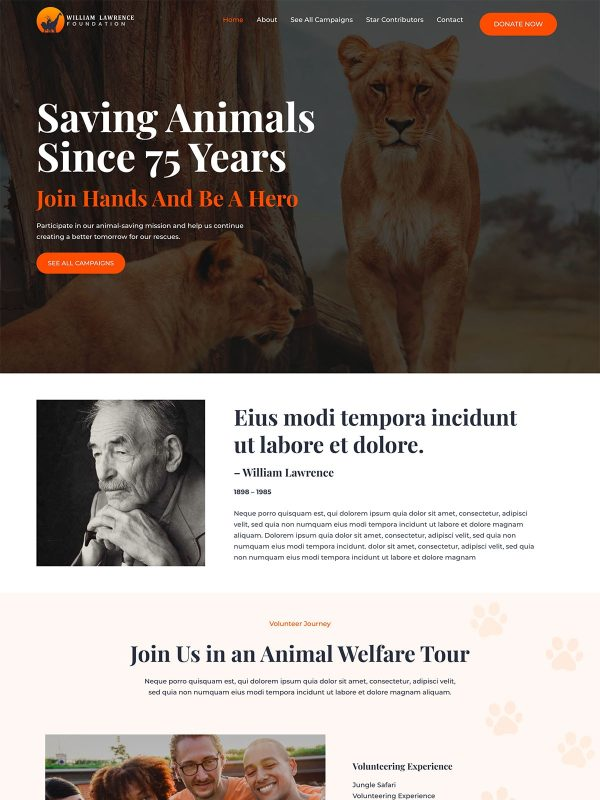 "Animal Welfare <br/> <a href=""//websitedemos.net/animal-welfare-08"" target=""_blank""> See a Live Preview!</a>"
