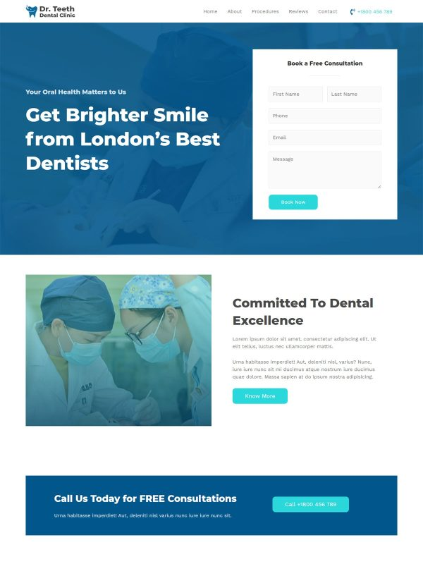 "Dentist Clinic <br/> <a href=""//websitedemos.net/dentist-08"" target=""_blank""> See a Live Preview!</a>"