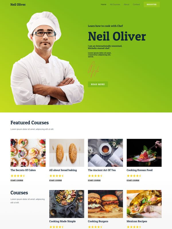 "Online Cooking Course <br/> <a href=""//websitedemos.net/online-cooking-course-08"" target=""_blank""> See a Live Preview!</a>"