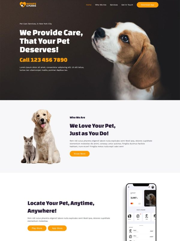 "Pet Sitting <br/> <a href=""//websitedemos.net/pet-sitting-08"" target=""_blank""> See a Live Preview!</a>"