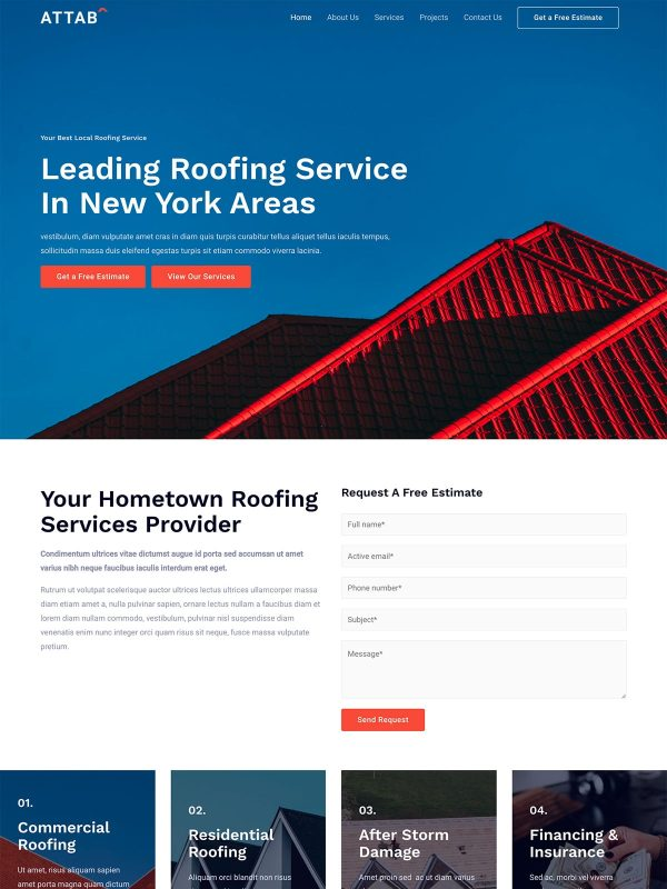 "Roofing Services <br/> <a href=""//websitedemos.net/roofing-services-08"" target=""_blank""> See a Live Preview!</a>"