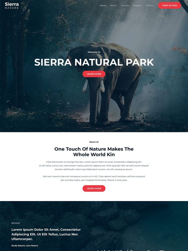 "Sierra Nature <br/> <a href=""//websitedemos.net/sierra-nature-08"" target=""_blank""> See a Live Preview!</a>"